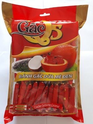 Bánh gấc dừa mè đen Q5 túi 320gr