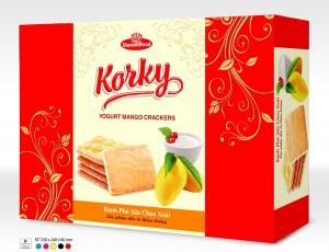 Bánh Korky phủ sữa chua xoài hộp 415gr